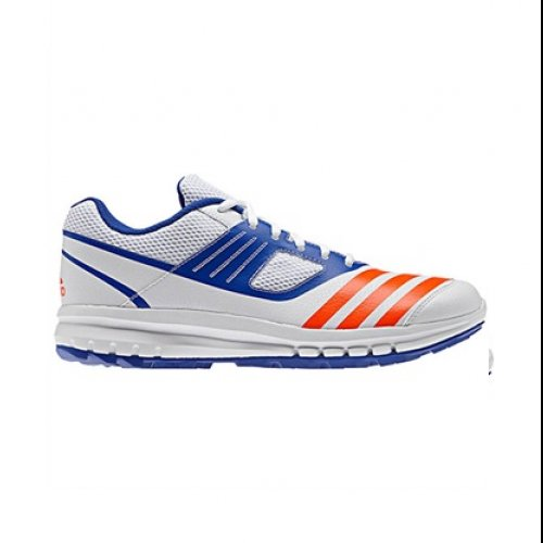 adidas Howzat AR Mens Rubber Cricket Trainer Shoe Sneaker White/ Blue Adidas Cricket