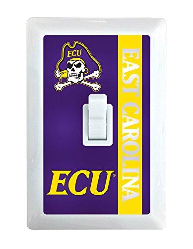 East Carolina Pirates Lamp - NCAA ECU Pirates LED Illuminated Light Switch Cover-East Carolina University Light Switch Night Light
