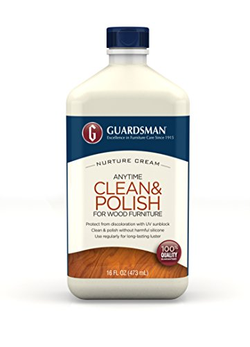 Guardsman Clean & Polish For Wood Furniture - Cream Polish 16.9 oz - Silicone Free, UV Protection - (Guardsman Furniture Protection)