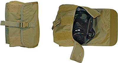 FireForce Military Tactical MOLLLE Gas Mask Pouch Made in USA (Tactical Tan) by Fire Force Tactical Gear