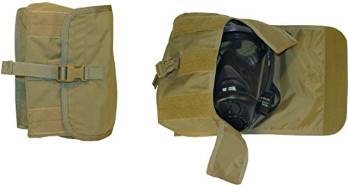 Fire Force Military Tactical MOLLLE Gas Mask Pouch Made in USA (Tactical Tan)