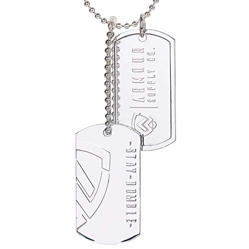 Armour Supply Co. Military Dog Tags for Men - Silver Stainless Steel Dogtag Army Tactical Necklace Chain