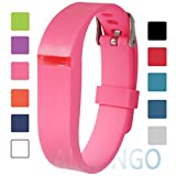 Fitbit Flex Adjustable Wristband - Fitbit Flex Silicone Replacement Secure Band with Chrome Watch Clasp and Fastener Buckle - Fix the Tracker Fall Off Problem