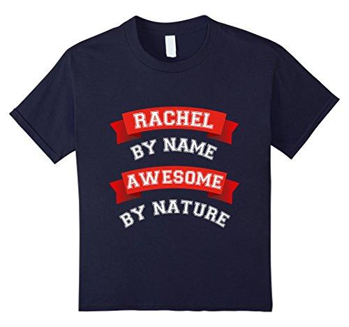 Kids Cute Awesome Rachel Gift T-Shirt / Rachel Birthday TShirt 12 Navy