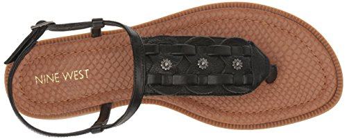 2014 unisex cheap price sast cheap online Nine West Women's Gona Leather Dress Sandal Black good selling cheap online cheap comfortable sale 100% original OH1UE