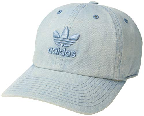 adidas Women's Originals Relaxed Adjustable Strapback Cap, Tactile Blue, One Size