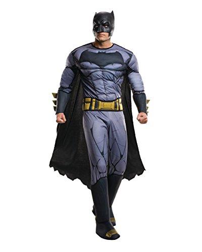 Rubie's Men's Batman v Superman: Dawn of Justice Deluxe Batman Costume, Multi, One (Super Deluxe Wizard Adult Costumes)