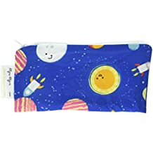 Itzy Ritzy Happens Mini Reusable Snack and Everything Bag, Interstellar, Blue