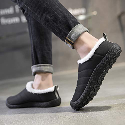 Snow Women Indoor Low Slip Anti Men Waterproof Black Shoes Fur Lined Boots top Slippers Outdoor qr7Wavqtn