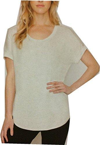 (Matty M Women's Short Sleeve Rolled Cuff Tunic Top Shirt (Pearl Grey, XX-Large))