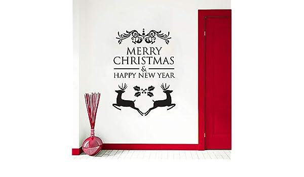 Feliz Navidad Etiqueta de La Pared Milu Deer Vinilo Tatuajes de ...