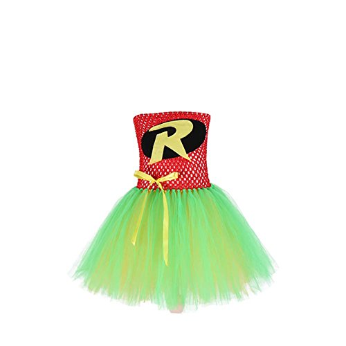 Dream-Store Toddler Girls Halloween Costume Dress Child's Tutu Dress (2T, Green)