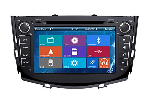 Crusade Car DVD Player for Lifan X60 Lifan Suv 2011- Support 3g,1080p,iphone 6s/5s,external Mic,usb/sd/gps/fm/am Radio 8 Inch Hd Touch Screen Stereo Navigation System+ Reverse Car Rear Camara + Free Map