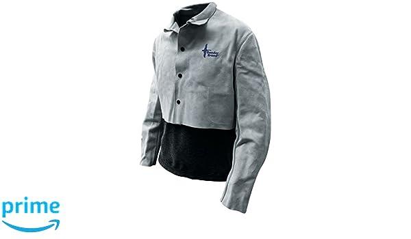 9ac2bf7818 Bob Dale Gloves 64151PX3L Welding Jacket Half Jacket Split Cowhide Pearl  Grey