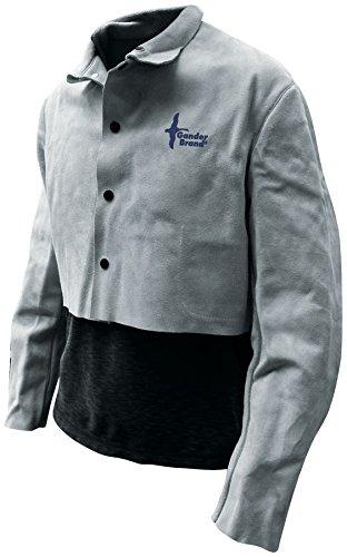 95ceb8e9bc Bob Dale Gloves 64151PL Welding Jacket Half Jacket Split Cowhide Pearl Grey