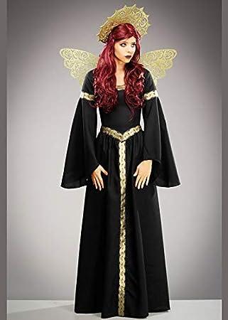Struts Disfraz de ángel caido Negro gótico Mujer XL (UK 14-16 ...