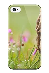 Brand New 4/4s Defender Case For Iphone (a Mushroom In Grass)