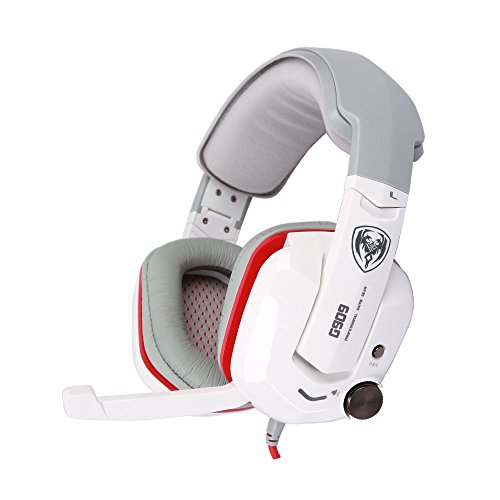 Somic G909 Virtual 7.1 Surround Stereo Sound PC Gaming Headset White