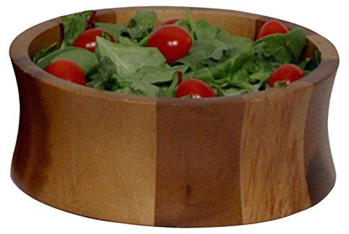 Woodard & Charles Acacia Wood Individual Salad Bowl, 6 1/2-Inch -