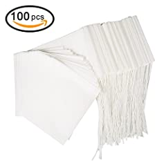 BetyBedy Tea Filter Bags Natural wood pulp filter paper.  Disposable tea infusers for steeping high-quality loose leaf tea with the convenience of tea filter bags. From BetyBedy Designer Brands, protected by the US trademark law.  Simple Appearance, ...