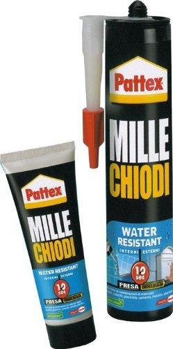 Colla Adesivo Montaggio Millechiodi Water Resistant colore Bianco 450 Gr in Cartuccia HENKEL