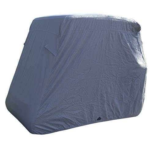 "Deluxe 4 Seater Golf Cart Cover roof 80"" L (Grey, Taupe, or Green), Fits E Z GO, Club Car and Yamaha G Model - Fits GEM e2"