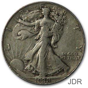 1938 P Walking Liberty Half Dollar 50C ()