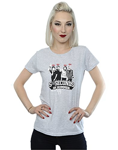 Seconds Summer Crown Bands 5 Womens camiseta Heather gris Of dBxXXnF