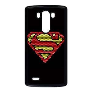 LG G3 Cell Phone Case Black_Superman Logo Pixels Fxeap