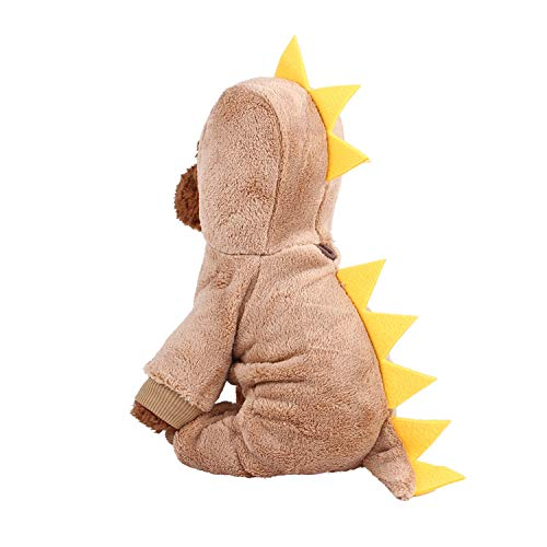 Sile Pet Clothes, Cute Cartoon Style Pet Clothing Cosplay Costume Pet Dress Up Thicken Winter Warm Pet Coat for Dogs Cats SL-015 (Color : Brown, Size : S)]()