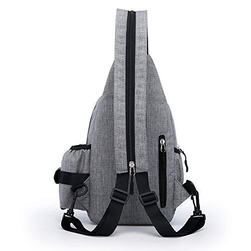 De Mode Sac Pour Plein Multifonction Élégant Dos gris Air Foncé Sports Homme Bandoulière À 6qxP6w0