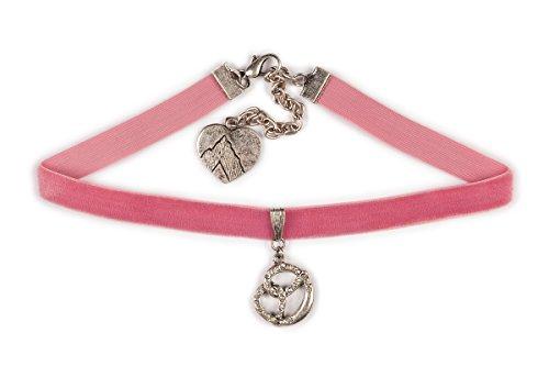 Trachten Kropfband - STRASS-BREZE - pink, schwarz, rot, rosa