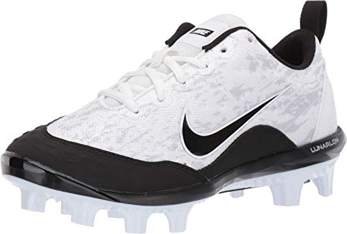 Nike Women's Hyperdiamond 2 Pro MCS Softball Cleat White/Black/Pure Platinum Size 7 M US
