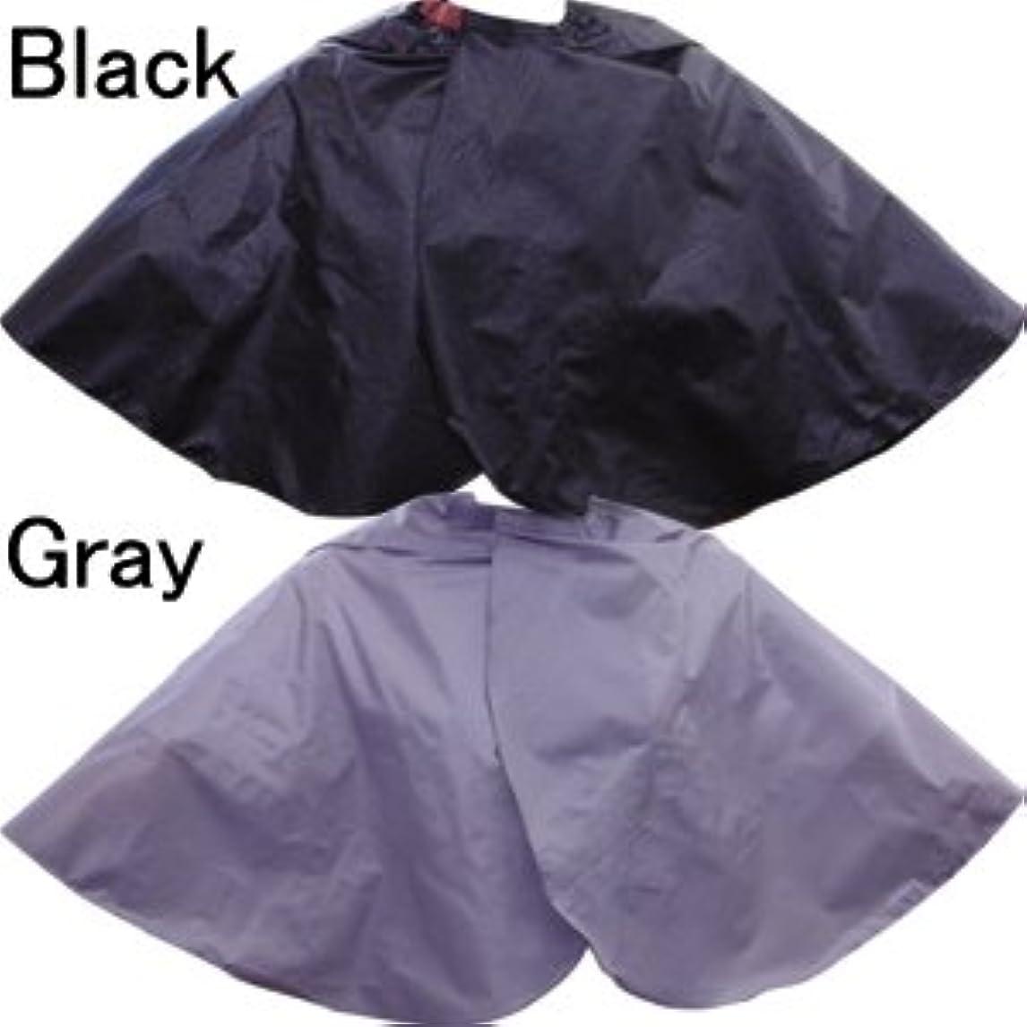 相手ぐるぐる熱Batreetek 散髪ケープ ヘアーエプロン 刈布 自由調節可能 美容サロン 理容 理美容 理发斗篷 ヘアドレッシング 160x145cm (黑)