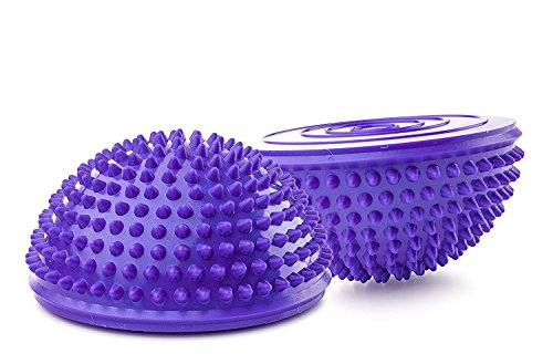(ZivaTech 2PCS Balance Pods, 16cm/6.3inch Hedgehog Balancing Pods Domed Stability Pods Half Round Yoga Balance Spiky Massager Ball Stepping Stone Foot Sole Trigger Point Hemisphere)