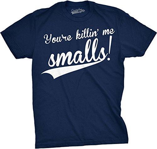 Baseball Movie T-shirt - Mens You're Killing Me Smalls T Shirt Funny Baseball Shirt Cool Novelty Tees Humor (Navy) - 3XL