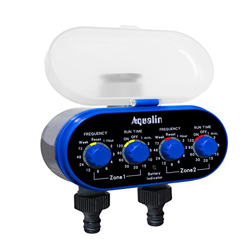 Aqualin Two Outlet Electronic Water Timer Garden irrigation system Color...