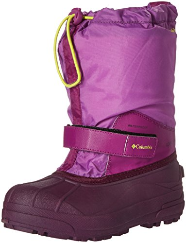 Columbia Girls' Youth Powderbug Forty-K Snow Boot, Northern Lights/Zour, 2 M US Little Kid (Purple Boots Snow)