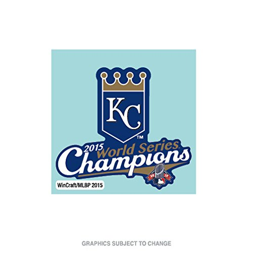 Kansas City Royals Official MLB 4 inch x 4 inch 2015 World Series Champions Perfect Cut Car Decal by Wincraft 227706