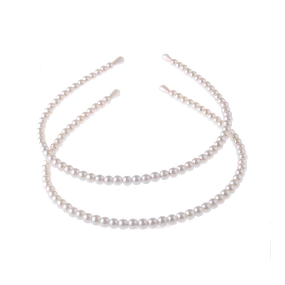 3pcs Faux Pearl Hair Headband set