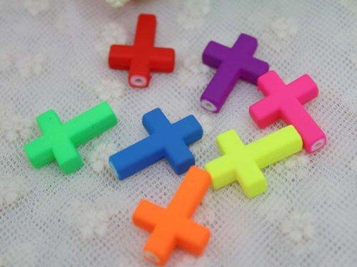 SODIAL(R) Environ 50 Pieces couronne de croix acrylique colore artisanat bricolage