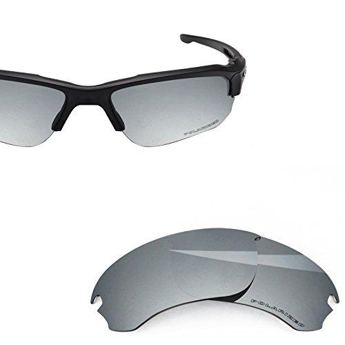 548c6c367ac01 BlazerBuck Anti-salt Polarized Replacement Lenses for Oakley Si Speed Jacket  - Silver Chrome