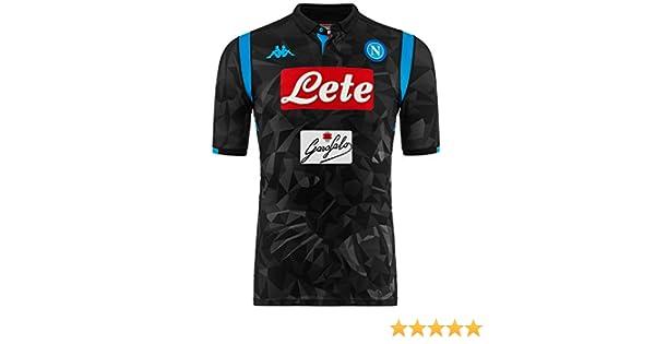 SSC Napoli Camiseta de juego visitante negro fantasía, negro, s ...