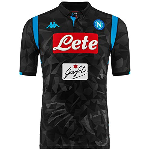 Kappa Napoli SSC Authentic Match Away Black Shirt 2018-19 Or