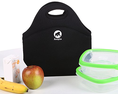 Hoopla Gorilla Bag - Deluxe Insulated Lunch Carrier - Black Neoprene Tote for Work, School and Kids...