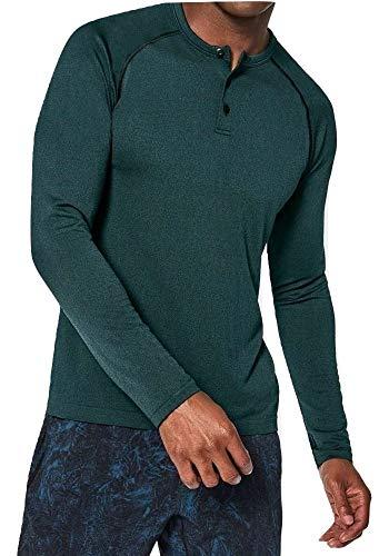 Lululemon Mens Metal Vent Tech Henley Long Sleeve Shirt