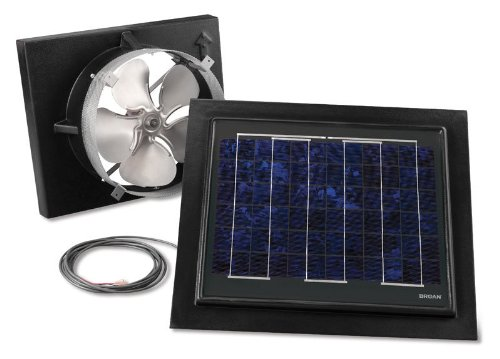 (Broan 353SOBK Gable Mount Solar Powered Attic Ventilator with Remote, Black)
