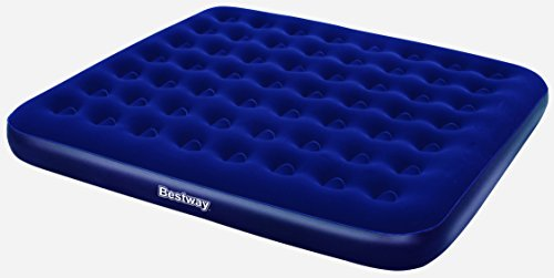 Bestway Comfort Quest Flocked King Size Air Bed - Blue, 80 x 72 x 8.5 Inch by Bestway