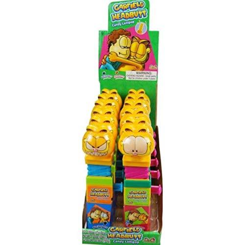 Garfield Candy - Kidsmania Garfield Headbutt Candy Lollipop Toy - Display Box of 12 Count