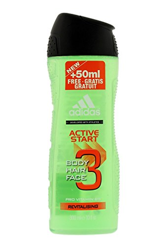 Price comparison product image Adidas Active Start Revitalising 3-in-1 Body, Hair and Face Shower Gel, 10 oz